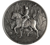 Bas-relief Knight, Death and the Devil Stock Images