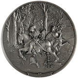 Bas-relief Knight and lansquenet Royalty Free Stock Photo