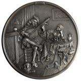 Bas-relief le joueur de luth images stock
