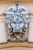 Bas-relief of lion's head on the old wall Royalty Free Stock Photography