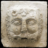 Bas-relief of a lion on a white stone - the end of 12 centuries Royalty Free Stock Photo