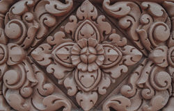 Bas relief of lotus flower Royalty Free Stock Photo