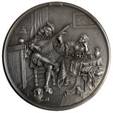 Bas-relief The Lute Player Stock Images