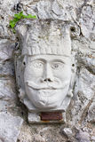 Bas-relief of a Male Face Royalty Free Stock Image
