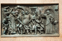 Bas-relief of the martyr Hermogenes Royalty Free Stock Images