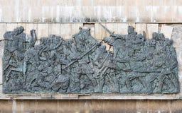 Bas-relief medieval Imagens de Stock