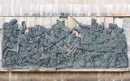 Bas-relief medioevale Immagini Stock
