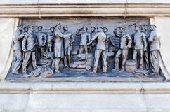 Bas-relief on the monument to Admiral Nakhimov Stock Image