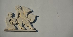 Bas relief mythology figures Stock Photography