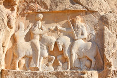 Bas-relief from Naqsh-e Rostam Stock Photo