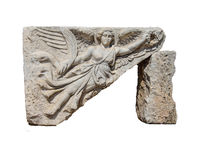 Bas relief ofwinged harpy Stock Image