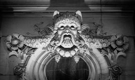 Bas relief from old building stone face Royalty Free Stock Photography