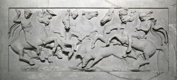 Bas-relief On A Sarcophagus Stock Images