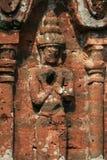 Bas-relief sur un bâtiment au sanctuaire de My Son Vietnam. Bas-relief ornant la façade d`un des bâtiments au sanctuaire de My Son Vietnam stock image