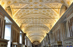Bas relief an paintings in the ceiling of Vatican Royalty Free Stock Photo