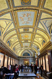 Bas relief an paintings in the ceiling of Vatican Royalty Free Stock Images