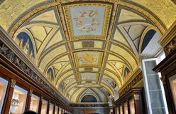 Bas relief an paintings in the ceiling of Vatican Stock Images