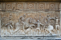 Bas-relief of the Palace of Charles V Royalty Free Stock Image