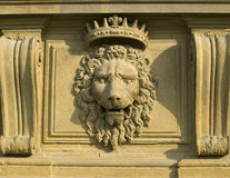 Bas-relief. On the Palazzo Pitti, Florence stock photo
