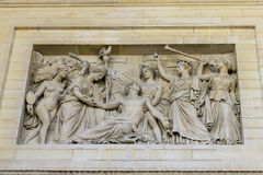 Bas relief, Pantheon, Paris, France Stock Photography