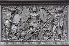 Bas-relief on the pedestal of the Alexander Column Stock Image