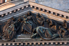 Bas-relief on the pediment of St. Isaacs Cathedral, St. Petersburg Royalty Free Stock Photo