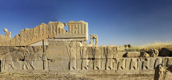Bas-relief of persepolis ruins,Shiraz IRan Royalty Free Stock Photography