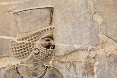 Bas-relief of Persian soldier Stock Images