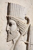 Bas-relief of Persian soldier from Persepolis, Ira. N (VI-th century BC royalty free stock photos