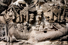 Bas-relief In preah khan Royalty Free Stock Photo