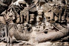 Bas-relief In preah khan Royalty Free Stock Photo