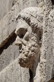 Bas-relief of the sage on the old wall. Stock Images