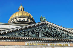 Bas-relief of Saint Isaac's Cathedral in St. Petersburg Royalty Free Stock Photos