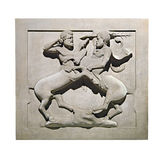 Bas-relief on a sarcophagus Royalty Free Stock Photos