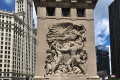 Bas-relief sculpture in Chicago Stock Photography