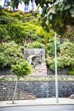 Bas Relief Sculpture en el muelle en Funchal Madeira Imagen de archivo