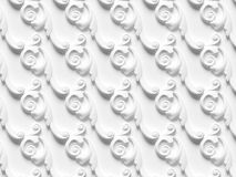 Bas-relief seamless texture consisting of various elements of architectural ornaments. And decorative products 3d render royalty free illustration