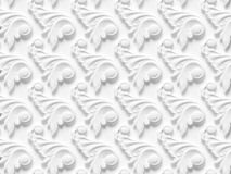 Bas-relief seamless texture consisting of various elements of architectural ornaments. And decorative products 3d render stock illustration