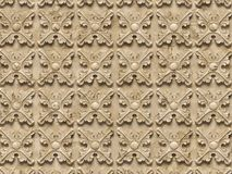 Bas-relief of seamless textures, consisting of various elements of architectural ornaments. And decorative items on a concrete surface. 3d render vector illustration