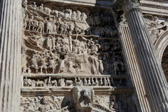 Bas relief of the Septimius Severus Arch in Rome, Italy Stock Photos