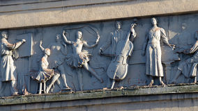 The bas-relief of the Soviet era. Stock Photo