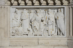 Bas-relief of St. Stephen of Hungary, Budapest. 10 Stock Photos