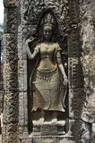 A Bas-Relief Statue of Khmer Culture Royalty Free Stock Image