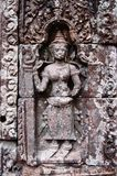 A Bas-Relief Statue of Khmer Culture Stock Photo