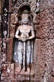 A Bas-Relief Statue of Khmer Royalty Free Stock Images