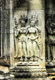 A Bas-Relief Statue of Khmer Culture Royalty Free Stock Photos
