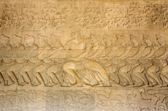 A Bas-Relief Statue of Khmer Culture Stock Photos
