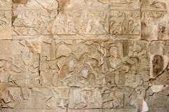 A Bas-Relief Statue of Khmer Culture Royalty Free Stock Images