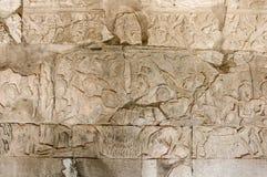 A Bas-Relief Statue of Khmer Culture Stock Photos