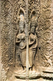 A Bas-Relief Statue of Khmer Culture Stock Photography
